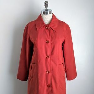 vintage 60's wool peacoat with zip-out plaid liner